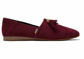 TOMS Raisin Suede Women's Kelli Flats Shoes - Size UK9