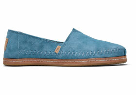 TOMS Sky Suede Leather Wrap Women's Classics Slip-On Shoes - Size UK5.5
