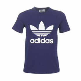 adidas  TREFOIL TEE  women's T shirt in Blue