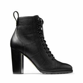 CRUZ 95 Combat boots en cuir grainé noir