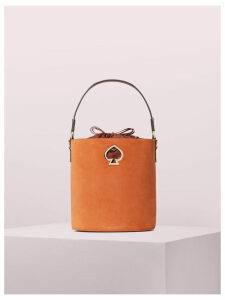 Suzy Suede Small Bucket Bag - Amber - One Size