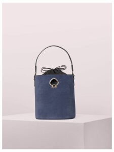 Suzy Suede Small Bucket Bag - Flag - One Size