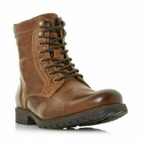 Dune Cowell Toe Cap Lace Up Worker Boots