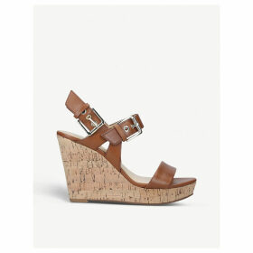 Scarlett leather wedge sandals