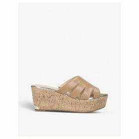 Victoria leather wedge sandals
