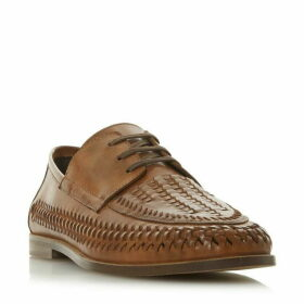Dune Brigade Lace Up Woven Loafers