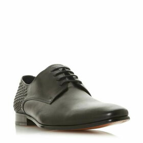 Dune Saluted Leave Woven Heel Lace Up Shoes