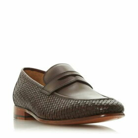 Dune Salvation Woven Leather Loafers