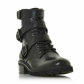 Steve Madden Crost Sm Buckle Strap Biker Boots