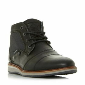 Dune Client Mixed Material Lace Up Boot