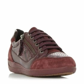 Geox D Myria A Snake Lace Up Trainers