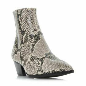Steve Madden Cafe Snake Effecr Ankle Boots