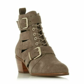 Dune Papaiya Two Buckle Cut Out Boots