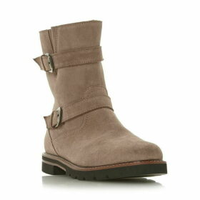 Dune Rhianne Double Buckle Calf Boots