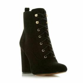 Head Over Heels Octavias Block Heel Lace Up Boots