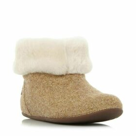 Fitflop Sarah Shearling Glitter Boot Slippers