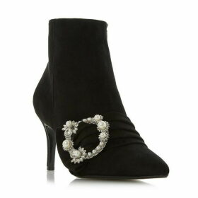 Dune Osborn Diamante Buckle Ankle Boots