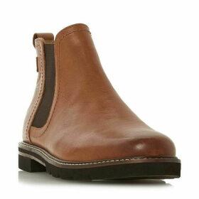 Dune Quarter Textured Panel Chelsea Boots