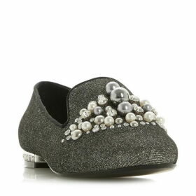 Dune Galinaa Pearl Embellished Loafers