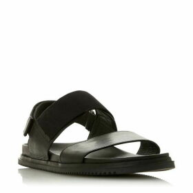 Dune Inkwell Double Strap Sandals