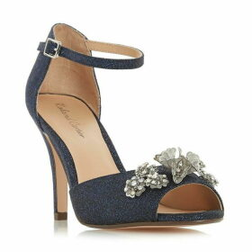Roland Cartier Marlina Diamante Flower Trim Sandals