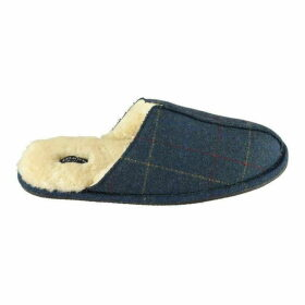 Howick Checked Tweed Mule Slippers