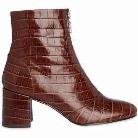 Whistles Rowan Croc Zip Front Boot