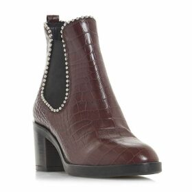 Dune Black Paxtton Stud Detail Chelsea Ankle Boots