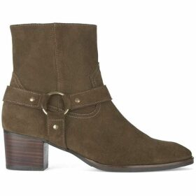Mint Velvet Pia Taupe Suede Cowboy Boot