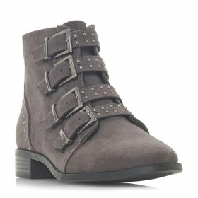 Head Over Heels Pamina Studded Multi Buckle Ankle Boots