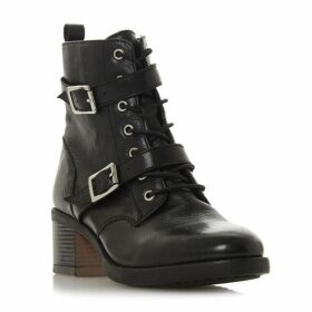 Dune Paxtone Double Buckle Lace Up Boots