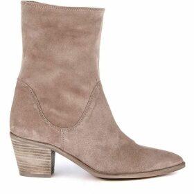Mint Velvet Kara Sand Suede Slouch Boot