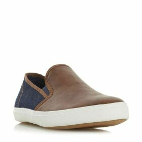 Dune Thierry Canvas Contrast Slip On Trainers
