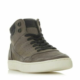 Dune Sesame Collar Detail Hi Top Trainers