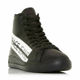 Versace E0Ysbsh5 Stripe Branded Hi Top Trainers