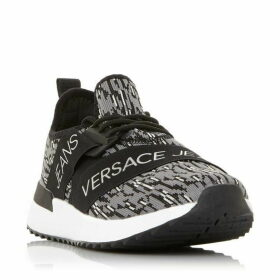 Versace E0Ytbsg1 Knit Branded Trainers