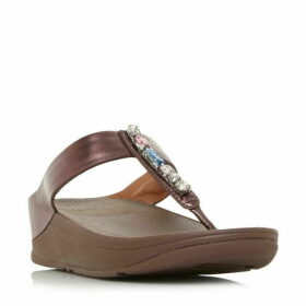 Fitflop Fino Bejewelled Wedge Sandals