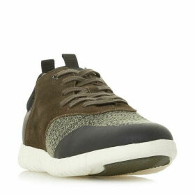 Dune Turan Textured Lace Up Trainers