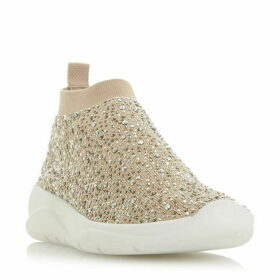 Dune Emerald Embellished Runner Trainers