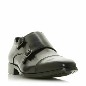 Dune Piramid Double Buckle Monk Shoes