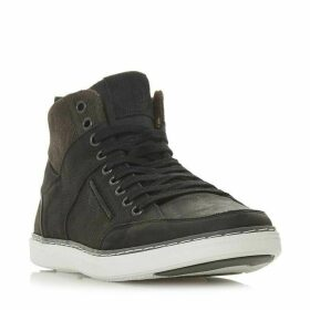 Dune Sven Leather Hi-Top Trainers
