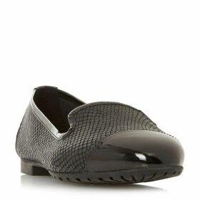 Dune Genevene Wide Fit Textured Loafer Shoes