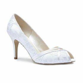 Paradox London Pink Cherie Lace Peep Toe Shoes