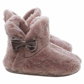 Totes Textured faux fur slipper boots