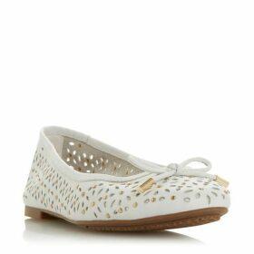 Dune Heleina Laser Cut Studded Ballerina Shoes