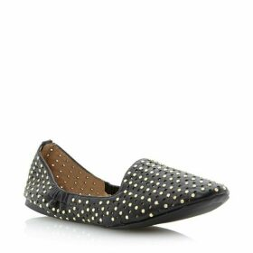 Steve Madden Pompei Metal Pin Stud Slipper Flat Shoes