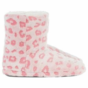 Therapy London Frosted Animal Embossed slipper boot