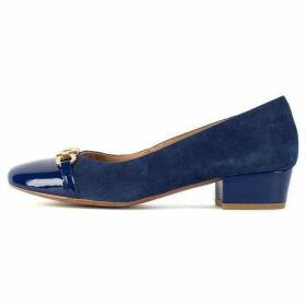 Chesca Blue Gold Suede And Patent Shoes