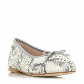 Dune Black Hallam Soft Bow Ballerina Flat Shoes