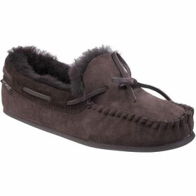 Cotswold Stanway Ladies Sheepskin Moccasin Slippers